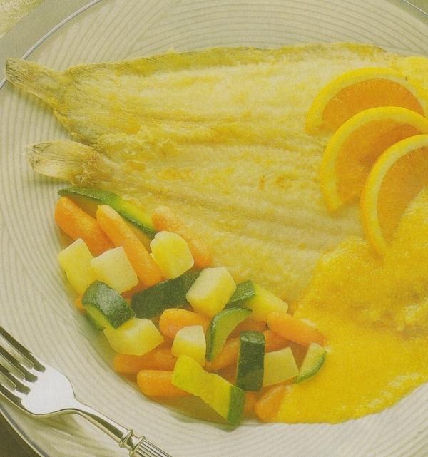 Lenguados con salsa de naranja