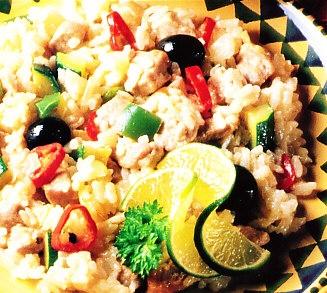 Lomo con risotto