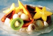 Macedonia de frutas con jarabe