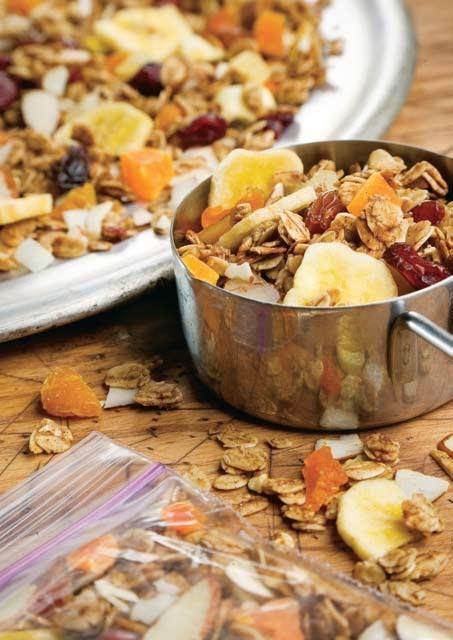 Mezcla de frutas tropicales y nueces