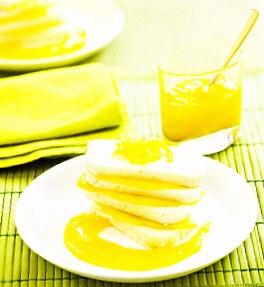 Milhojas de queso y mango