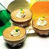 Mousse de chocolate y moka en microondas