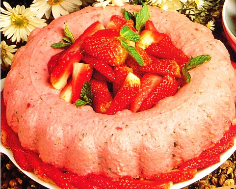 Mousse de fresas y menta