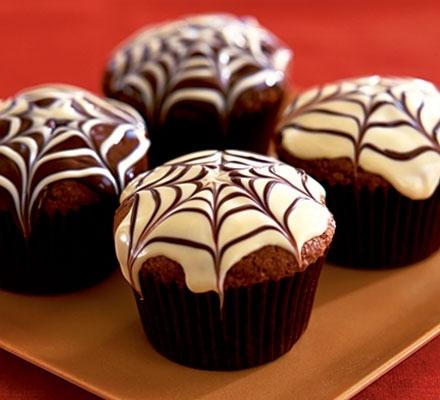 Muffins de araña de halloween