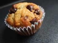 Muffins de banana con virutas de chocolate