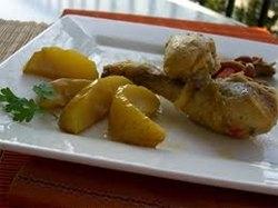 Muslitos de pollo con manzanas