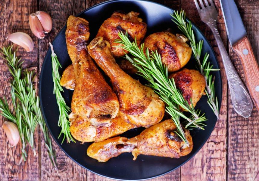 Muslos de pollo al horno