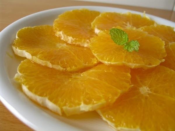 Naranjas con lima y miel