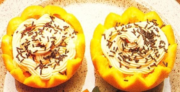Naranjas rellenas de queso