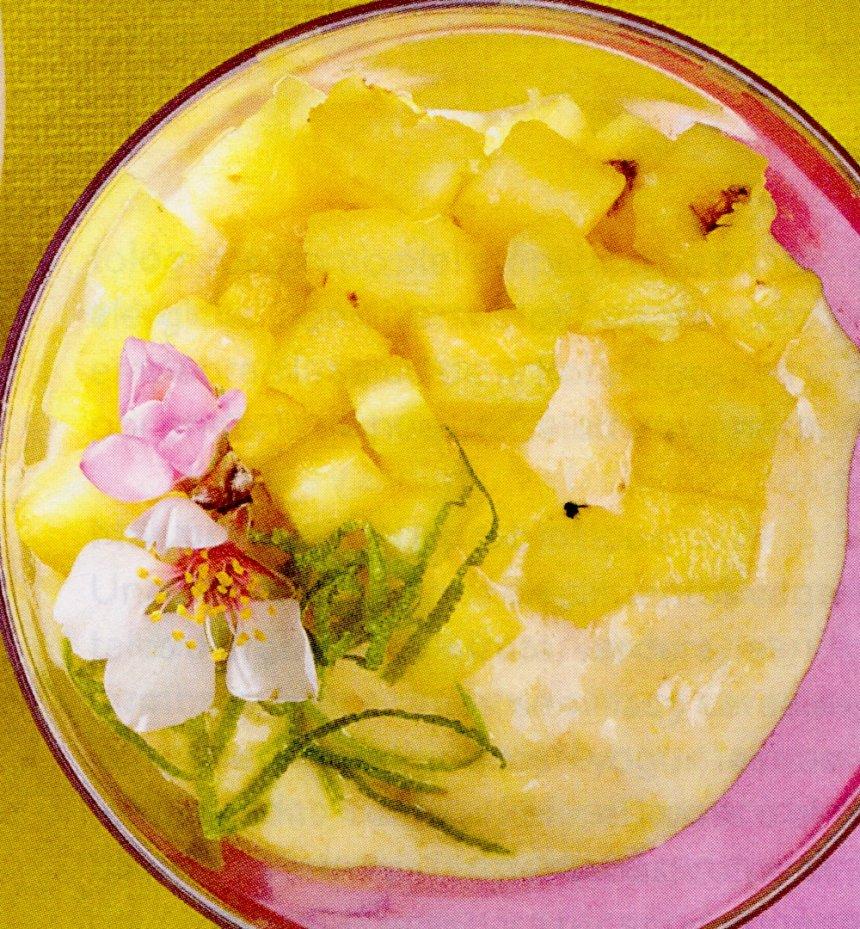 Nice cream de plátano y piña