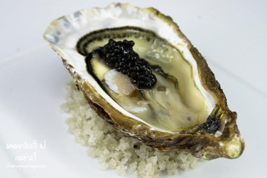 Ostras con caviar