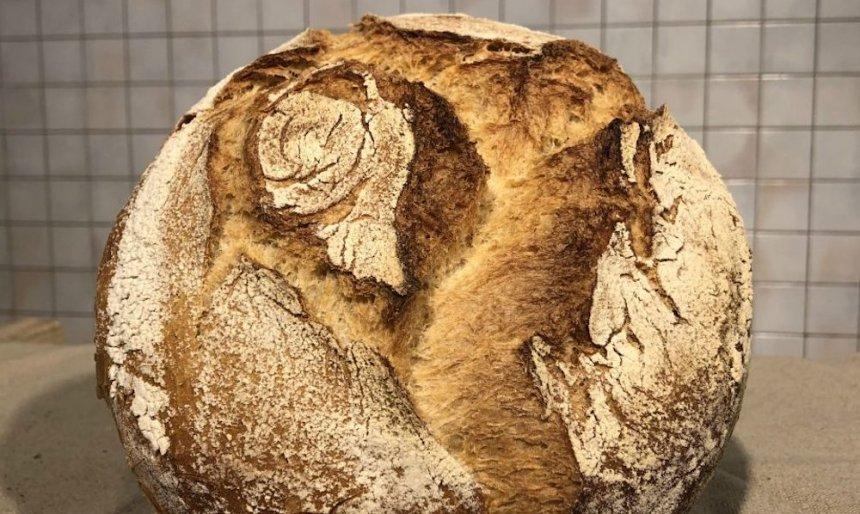 Pan de payés con masa madre en Thermomix