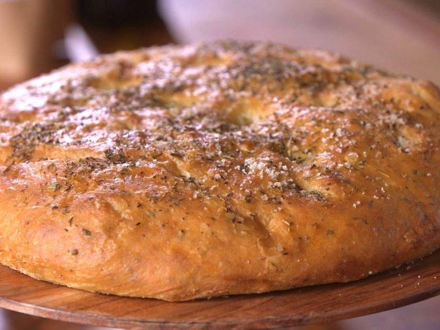 Pan de yogur y hierbas