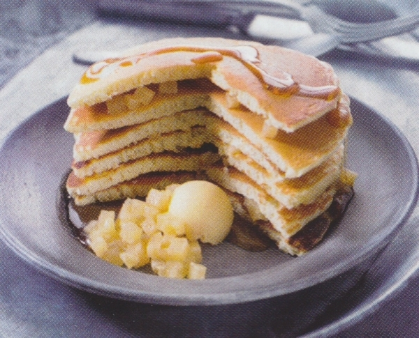 Pancakes de pera