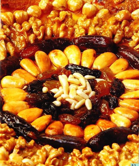 Pastel de frutos secos
