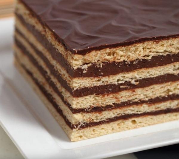 Pastel de galletas al chocolate