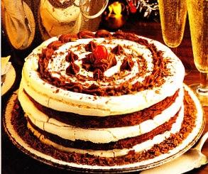 Pastel de merengue y chocolate