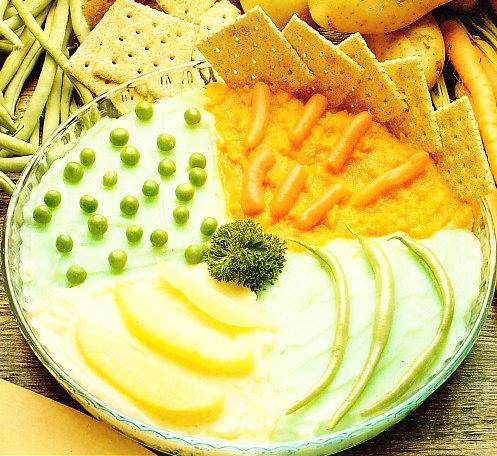Pastel de purés de verduras