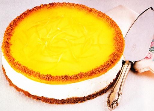Pastel de queso fresco y limón