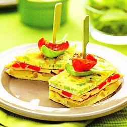 Pastel de tortillas variadas