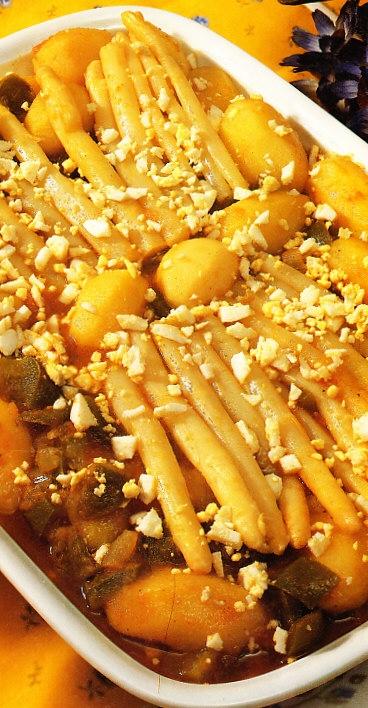Patatas con espárragos