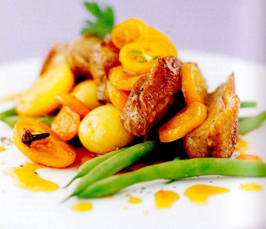 Pato con quinoto y salsa de miel