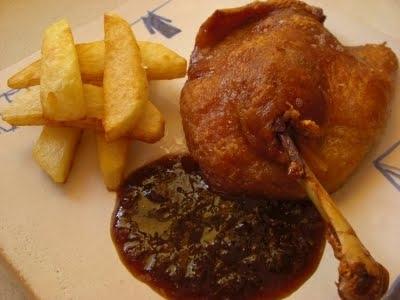 Pato lacado con salsa de higos y miel