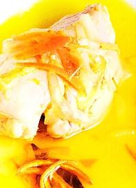 Pechuga de pollo con escabeche de naranja