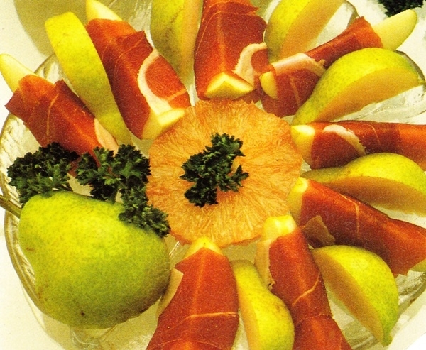 Peras con jamón