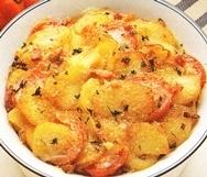 Pescadilla y patatas al horno