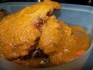 Pierna de cordero rellena con salsa soubise