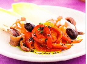 Pimientos con anchoas