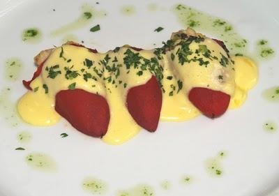 Pimientos de piquillo a la mayonesa perfumada