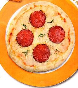 Pizza con salchichón