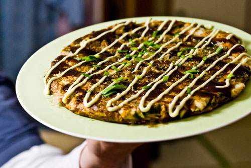 Pizza japonesa (Okonomiyaki)