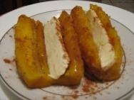 Plátanos con mantequilla de cacahuetes