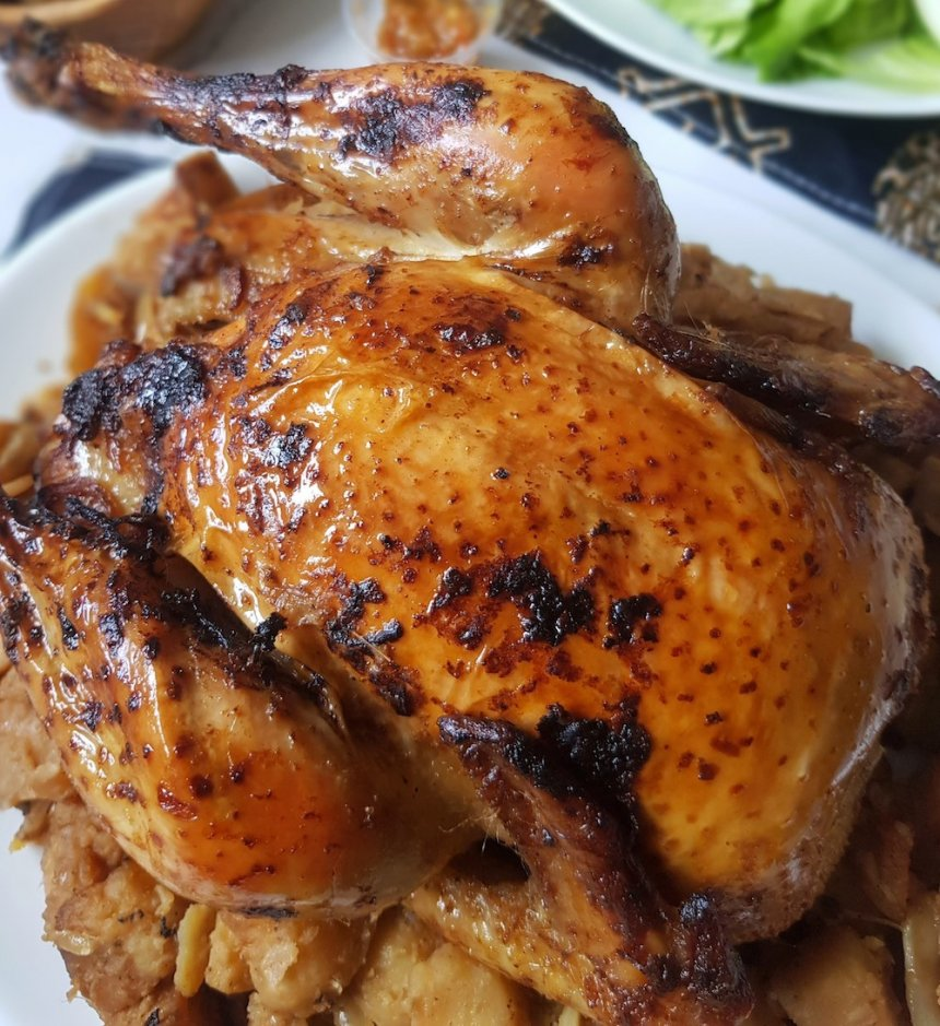 Pollo asado marroquí