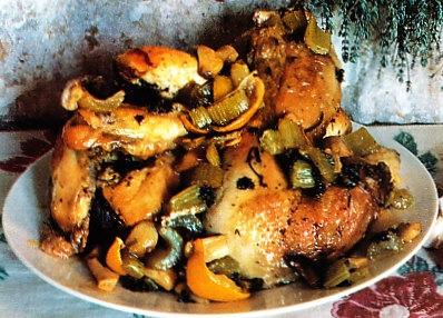 Pollo con ajos