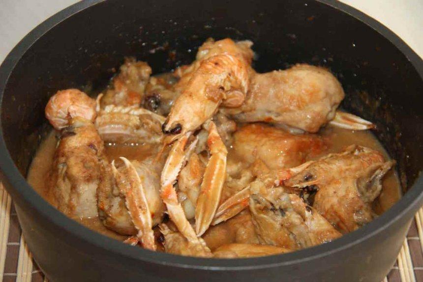 Pollo con cigalas