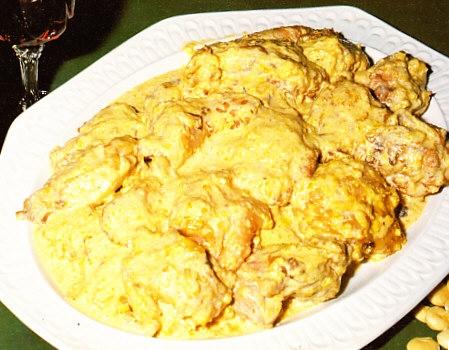 Pollo en pepitoria al estilo de Castilla-La Mancha