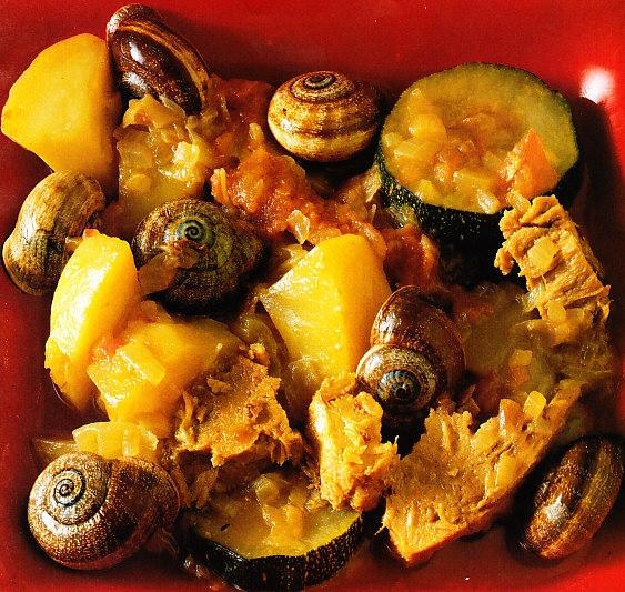 Potaje con caracoles