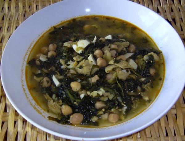 Potaje de garbanzos con bacalao y espinacas the cook monkeys - Potaje con bacalao y espinacas ...