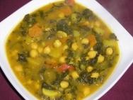 Potaje de hortalizas y garbanzos