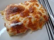 Puerros gratinados con jamón y queso mozzarella