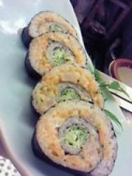 Rollito de pollo invertido con hongo shiitake