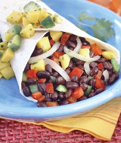 Rollito de vegetales y frijoles