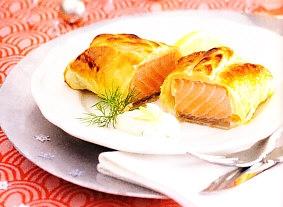 Salmón en costra con crema de limón