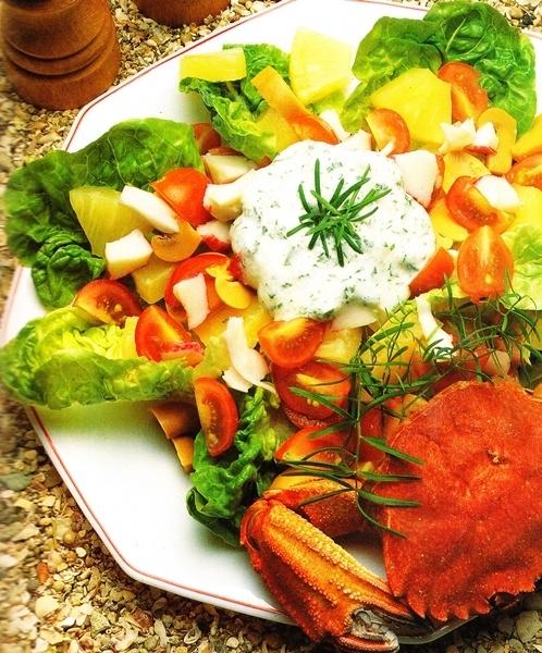 Salpicón de cangrejo