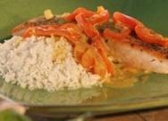Salteado de salmón con arroz