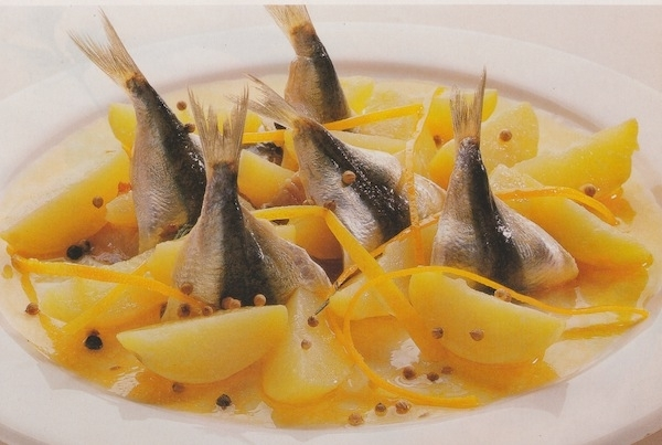 Sardinas marinadas con patatas